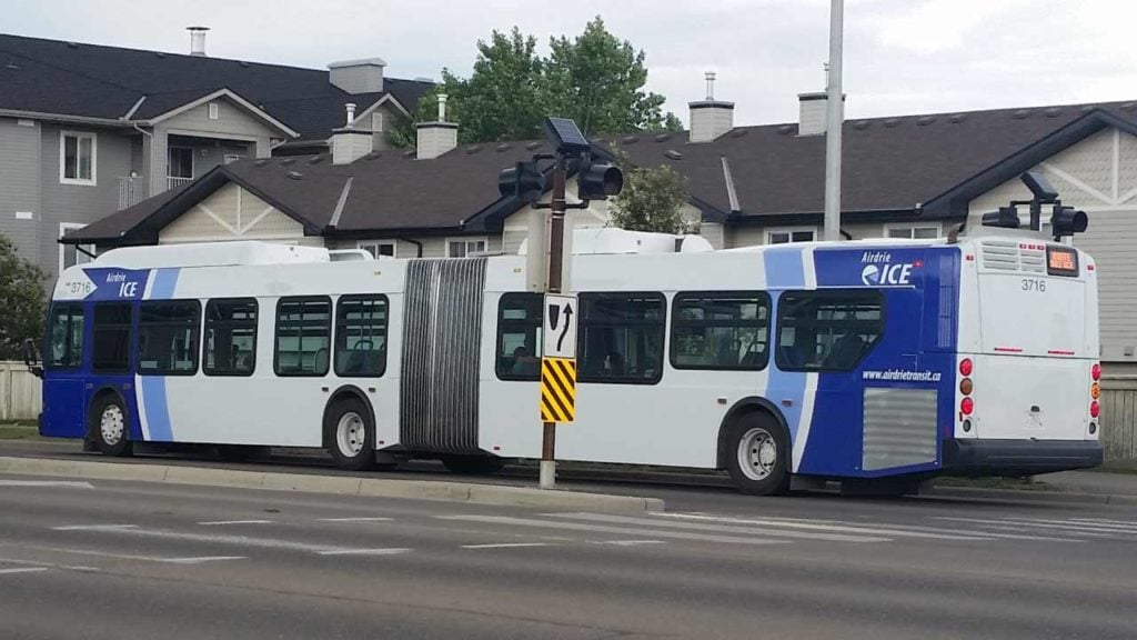 Airdrie ICE Bus transit system.